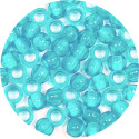 Transparent Aqua 7x6mm Pony Beads 50 Pieces