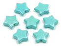 Light Blue Pearl Star Beads 10 Pieces