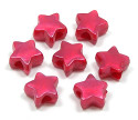 Berry Pearl Star Pony Bead 12 Pieces