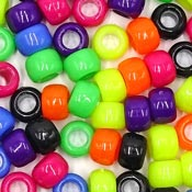 Black Candy Mix 9x6 mm Pony Beads 50 Pieces