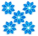 Blue Ice Snowflake Bead 20 Pieces