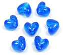 Transparent Blue Heart Pony Beads 20 Pieces