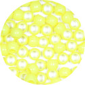 Bright Yellow 7x6mm Pony Beads 50 Pieces