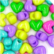 Bright Candy Heart Pony Bead Mix 50 Pieces