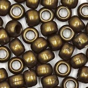 Bronze 9x6 mm Pony Beads 50 Pieces