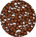 Brown 7x6mm Pony Beads 50 Pieces