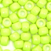 Chartreuse 9x6 mm Pony Beads 50 Pieces