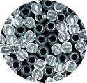 Clear 7x6mm Pony Beads 50 Pieces