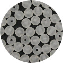 Clear Frosted 7mm Acrylic Round Bead 25 Pieces