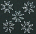 Clear Ice Snowflake Bead 20 Pieces