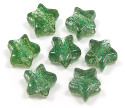 Green Glitter Star Pony Bead 12 Pieces