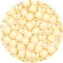 Cream 7x6mm Pony Beads 50 Pieces