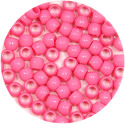 Pink 7x6mm Pony Bead 50 Pieces