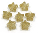 Gold Glitter Star Pony Bead 12 Pieces