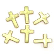 Gold Pearl Cross Beads