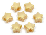 Gold Pearl Star Pony Bead 12 Pieces