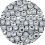 Gray 9x6mm Pony Beads 50 Pieces