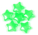 Glow In The Dark Green Star Pony Bead