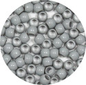 Gray 7x6mm Pony Beads 50 Pieces
