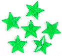 Green Transparent 11x11 Faceted Star Beads 20 Pieces