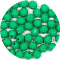 Faceted Green Acrylic Round Bead 50 Pieces