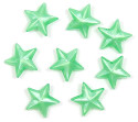 Green Pearl 11x11 Faceted Star Beads 12 Pieces