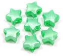 Green Pearl Star Pony Bead 12 Pieces