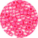 Hot Pink 9x6mm Pony Beads 50 Pieces