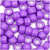 Lilac 9x6 mm Pony Beads 50 Pieces