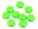 Lime Green Flower Bead