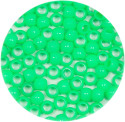 Lime 7x6mm Pony Beads 50 Pieces