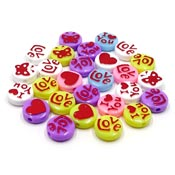 Acrylic Love Disc Bead Mix