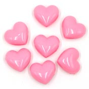 Large Pink Heart Pony Beads
