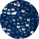 Navy 7x6mm Pony Beads 50 Pieces