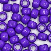 Purple 9x6 mm Pony Beads 50 Pieces