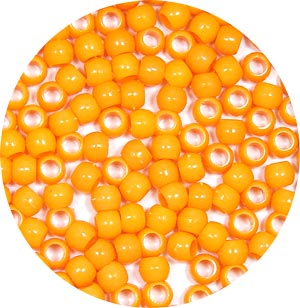 Orange 7x6mm Pony Beads 50 Pieces