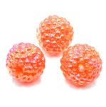 Orange AB 15mm Berry Beads