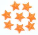 Orange 11x11 Faceted Star Beads 12 Pieces