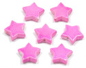 Hot Pink Pearl Star Bead 10 Pieces