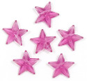 Transparent Purple 16x16 Faceted Star Beads 20 Pieces