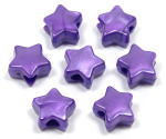 Purple Pearl Star Pony Bead 12 Pieces