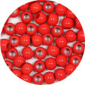 Opaque Red 7x6mm Pony Bead 12 Pieces