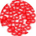 Red 9x6mm Pony Beads 50 Pieces