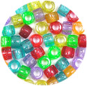 Glitter Barrel Bead Mix 50 Pieces