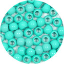 Light Turquoise 7x6mm Pony Bead 12 Pieces