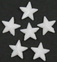 White 11x11 Faceted Star Beads 20 Pieces