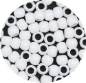 White 7x6mm Pony Beads 50 Pieces