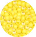 Yellow 7x6mm Pony Beads 50 Pieces