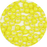 Yellow 9x6mm Pony Beads 50 Pieces