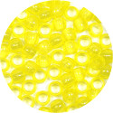 Transparent Yellow 7x6mm Pony Beads 50 Pieces